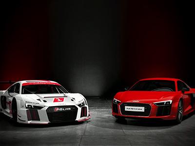 Audi R8 V10 plus und R8 LMS